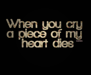 quote, cry, and die image