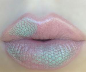 girl, pink, and lips image
