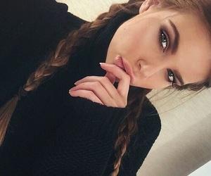 beauty, eyes, and lips image