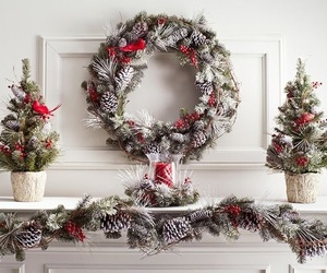 christmas, red and white, and christmas decorations image