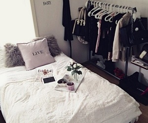 bedroom, room, and clothes image