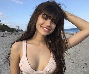 beach, smile, and beauty image