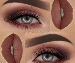 eye makeup, tumblr, and fashion image