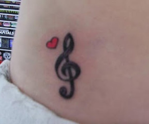clef, love, and tattoo image