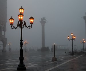 light, venice, and fog image