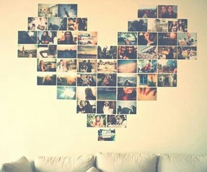 heart, photo, and memories image