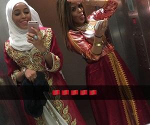 sisters, morocco, and caftan image