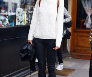 outfit, sweater, and white image
