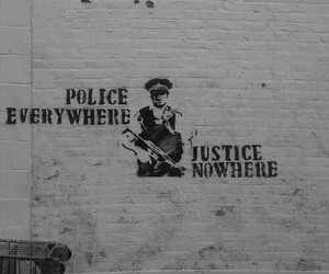 police, justice, and wall image