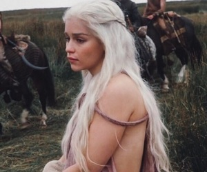 game of thrones, emilia clarke, and blonde image