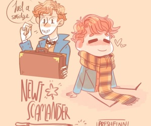 drawing, harry potter, and fantastic beasts image