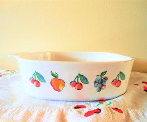 etsy, corning ware, and corning fruit basket image