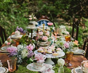 flowers and party image