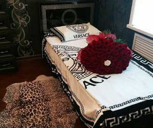 bouquet, decor, and leopard image