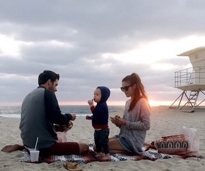 beach, family, and in love image