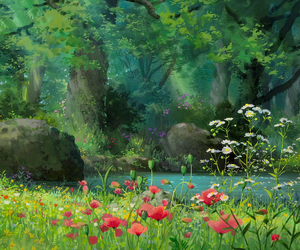 flowers, nature, and anime image