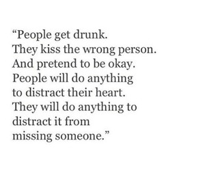 quote, drunk, and kiss image