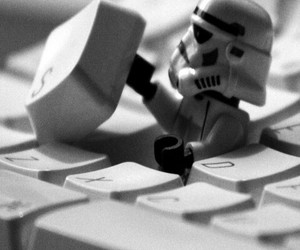 star wars, black and white, and computer image
