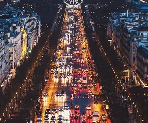 france, city, and lights image