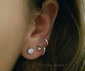 earring, girl, and jewelry image