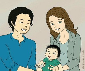 baby, glenn, and family image