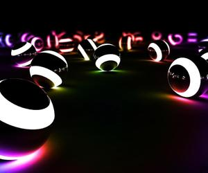 fluo, noir, and boules image