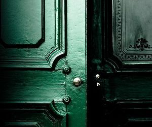 green, slytherin, and door image