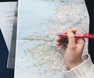 ireland, map, and roadtrip image