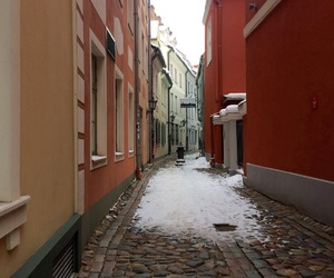 old town, winter, and riga image