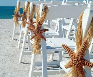 beach, wedding, and summer image
