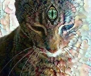 cat, art, and eye image
