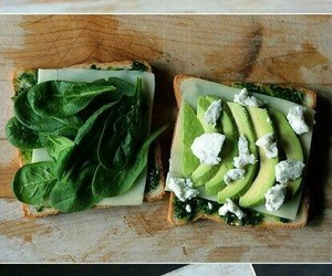 food, sandwich, and avocado image