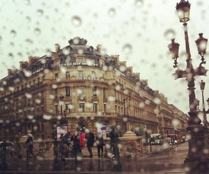 cities, france, and rainy image