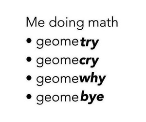 funny, geometry, and math image