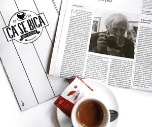 breakfast, coffee, and Paper image