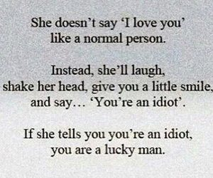idiot, quote, and love image