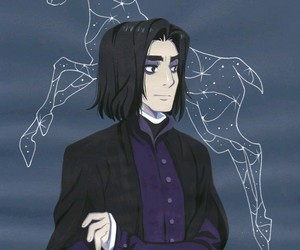 harry potter, book, and snape image