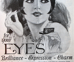 makeup, vintage, and eyes image