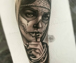 cross, day of the dead, and girl image