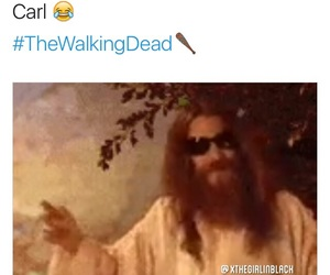 funny, twd, and carl grimes image
