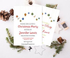 etsy, party invitation, and holiday invitation image