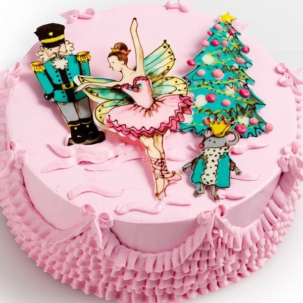 ballerina, ballet, and cake image