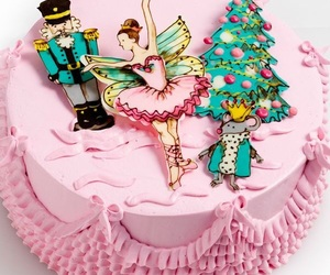 ballerina, ballet, and cake image