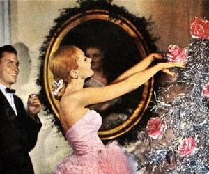 pink, christmas, and vintage image
