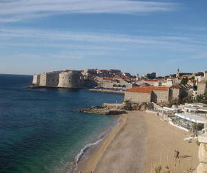 beach, Croatia, and dubrovnik image