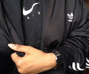 nike, adidas, and black image