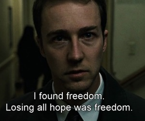 fight club, movie, and freedom image