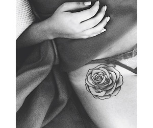 flower, hip, and inked image