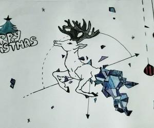 christmas, draw, and drawning image