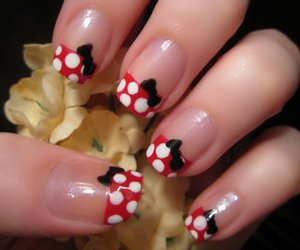bows, cute, and minnie mouse image